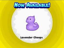 Unlocking lavender cheeps