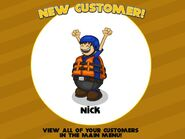 Nick new costumer