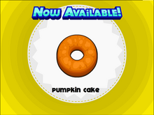 Pumpkin cake close