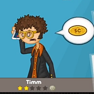 Timm ordering on the phone