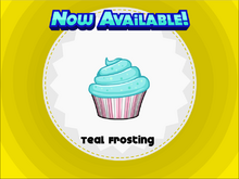 Papa's Cupcakeria - Teal Frosting