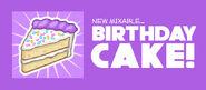 Birthdaycake reveal