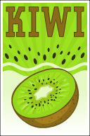 Kiwi Filling and Kiwi Slices Poster
