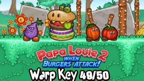 "Let's Play ""Papa Louie 2 When Burgers Attack"" Warp Key 49 50 - BBQ Bog Find 100 Coins"