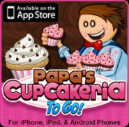 Papa's Cupcakeria To Go! Small Logo