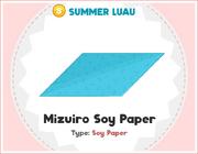 Mizuiro Soy Paper Cookbook