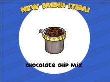 Unlock chocolate chip mix