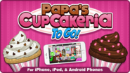Papa's Cupcakeria To Go! Logo on the Flipline Homepage