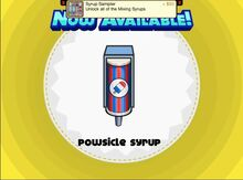 Unlocking powsicle syrup