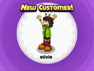 Olivia, new customer