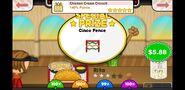 Papa's Taco Mia To Go! Chicken Cream Crunch Prize