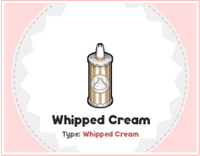 Whipped creamm