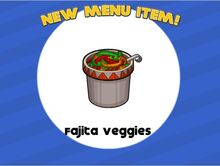 Unlocking fajita veggies
