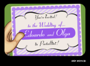Romano Wedding Invitation in the mail