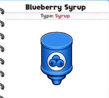 Blueberry Syrup (PTG)