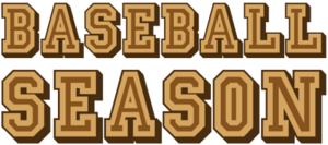 Baseball season logo