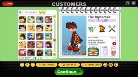 Papa's Hot Doggeria HD All Customer Outfits!