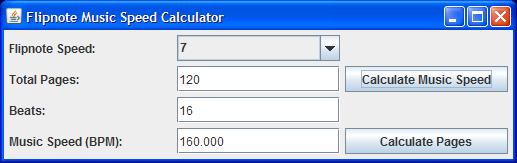 FlipnoteMusicSpeedCalculator Screenshot