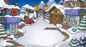 Ski village party