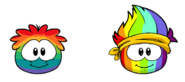 Rainbow and Spectrum Puffle comparison