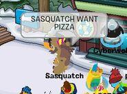 Sasquatch pizza