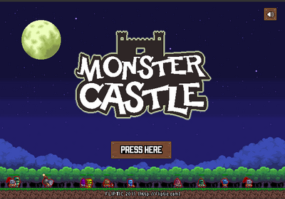 Monster castle defense menu image