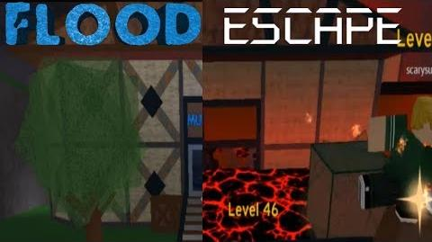 Flood Escape 2 Comparison Familiar Ruins & Flood Escape Lobby