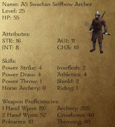 A5 Swadian Selfbow Archer