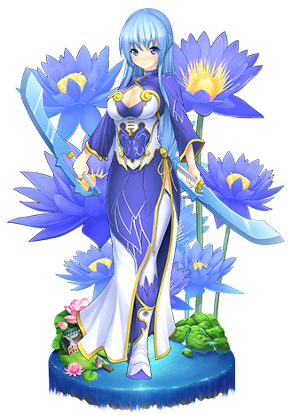 Blue lotus flower knight girl wikia fandom powered by wikia blue lotus mightylinksfo