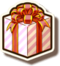 Interface present box icon