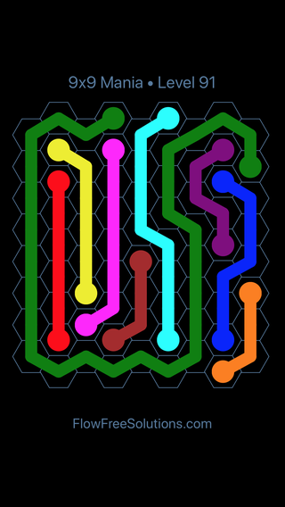 9x9 Mania Levels 91 120hexes Flow Free Wiki Fandom Powered By