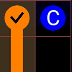 An orange flow that is complete by pressing the hint button.