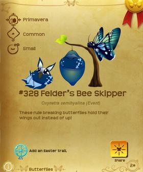 Felder's Bee Skipper§Flutterpedia