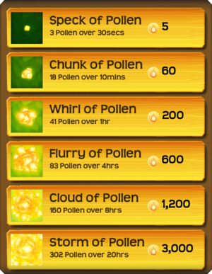 Pollen Flower Menu§Stage02