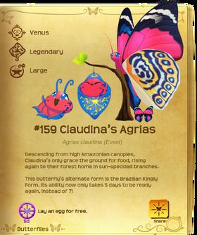 Claudina's Agrias§Flutterpedia UpgradedAlt