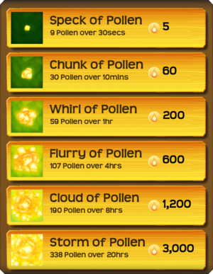 Pollen Flower Menu§Stage05