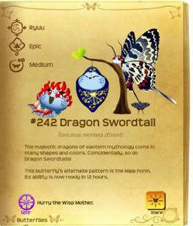 Dragon Swordtail§Flutterpedia Upgraded