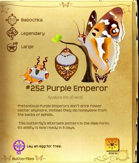 Purple Emperor§Flutterpedia Upgraded