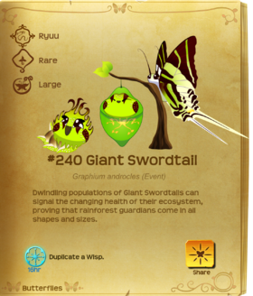Giant Swordtail§Flutterpedia