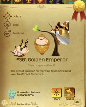 Golden Emperor§Flutterpedia