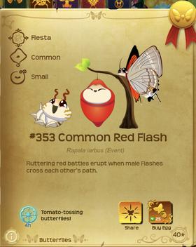 Common Red Flash§Flutterpedia