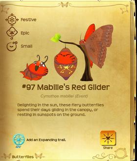 Mabille's Red Glider§Flutterpedia