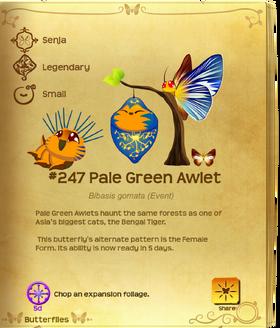 Pale Green Awlet§Flutterpedia Upgraded