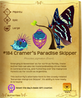 Cramer's Paradise Skipper§Flutterpedia Upgraded