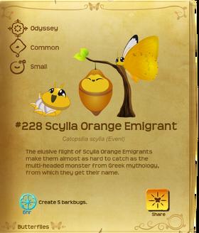 Scylla Orange Emigrant§Flutterpedia