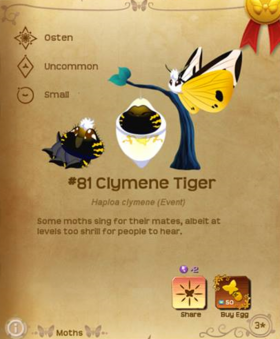 Clymene Tiger§Flutterpedia
