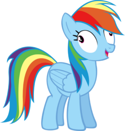 Rainbow Dash derp face