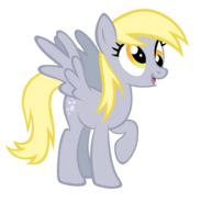 Derpy Hooves on the ground