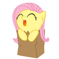 Chibifluttershy in a bag FANMADE