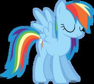 Eyes closed Rainbow Dash